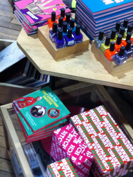 Rock Your Ugly Christmas Sweater book at Urban Outfitters Georgetown